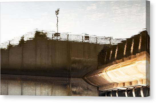 Hydro Dam Number Two Canvas Print by Michael Rutland