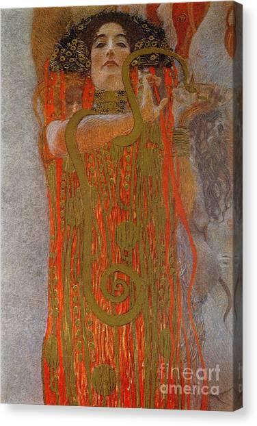 Snake Canvas Print - Hygieia by Gustav Klimt
