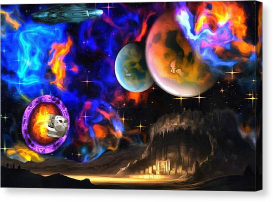 Hyperactivity Sector X66 In The Andromeda Gallaxy Canvas Print