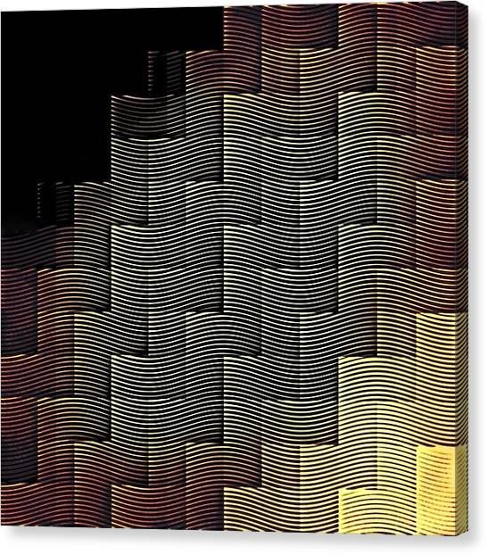 Tetris Canvas Print - Hypnotic Geometry by Kristian Leov