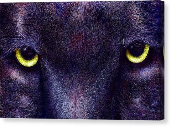Hyptnotist The Black Panther Canvas Print by JoLyn Holladay