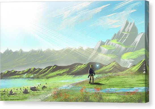Zelda Canvas Print - Hyrule Horizons by Oliver Nelson
