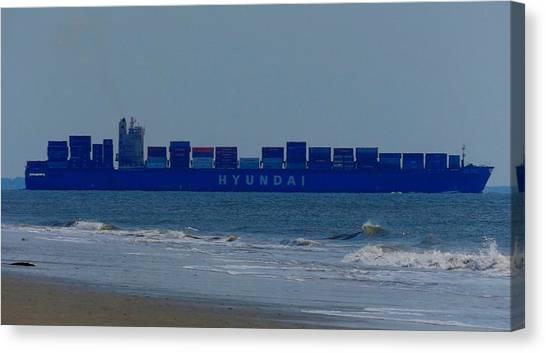 Hyundai Ship Canvas Print
