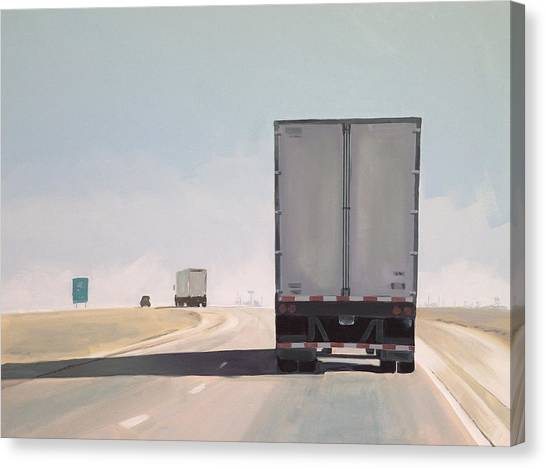 Trucks Canvas Print - I-55 North 9am by Jeffrey Bess
