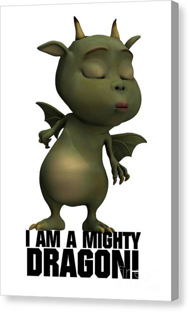 Boobies Canvas Print - I Am A Mighty Dragon by Esoterica Art Agency