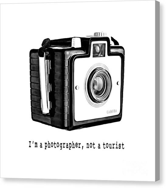 Tee Shirt Canvas Print - I Am A Photographer Not A Tourist Tee by Edward Fielding