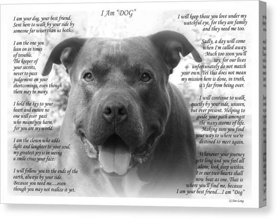 I Am Dog Canvas Print