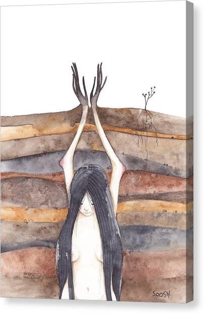 Gypsy Canvas Print - I Am Growing by Soosh