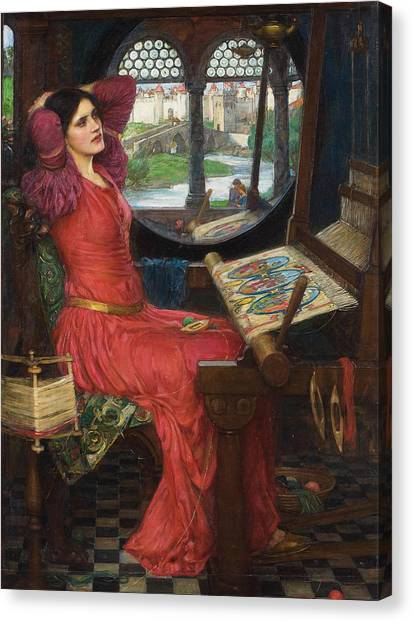 I Am Half Sick Of Shadows Said The Lady Of Shalott Canvas Print