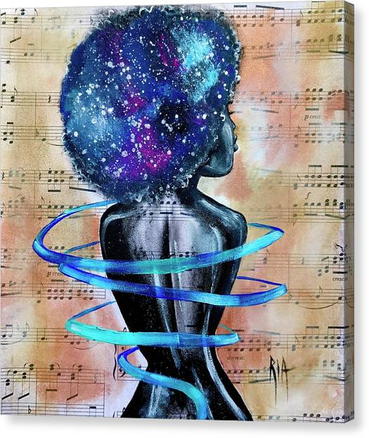 Canvas Print - I Am Her... She Is Me by Artist RiA