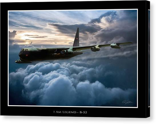 Linebackers Canvas Print - I Am Legend B-52 V2 by Peter Chilelli