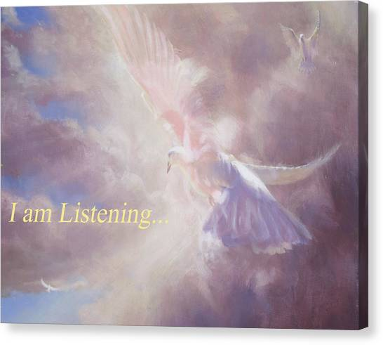 I Am Listening Canvas Print