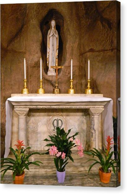 I Am The Immaculate Conception - Tiny Chapel On Crypt Level Canvas Print