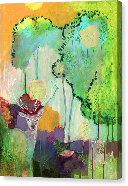 Stag Canvas Print - I Am The Meadow In The Forest by Jennifer Lommers