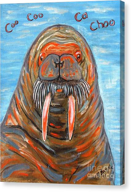 I Am The Walrus Canvas Print