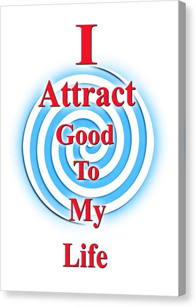 I Attract Red White Blue Canvas Print