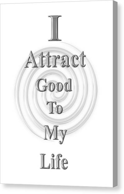 I Attract Silver Canvas Print