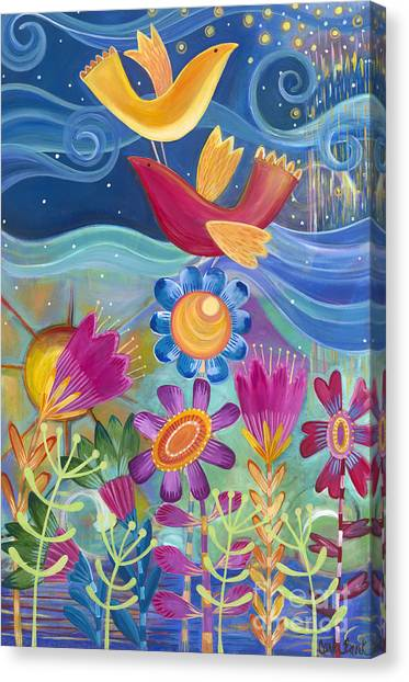 Canvas Print featuring the painting I Believe I Can Fly by Carla Bank