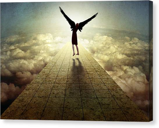 Conceptual Art Canvas Print - I Can Fly ... by Ben Goossens