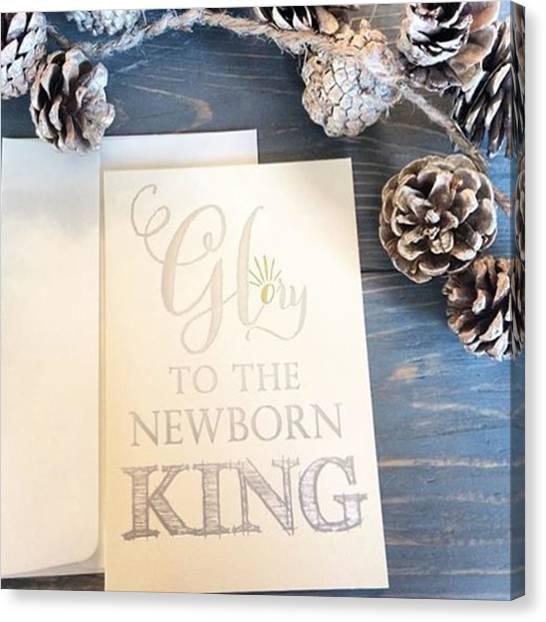 Music Canvas Print - I Catch Myself Singing Every Christmas by E M I L Y  B U R T O N