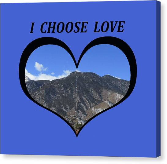 I Choose Love With The Manitou Springs Incline In A Heart Canvas Print