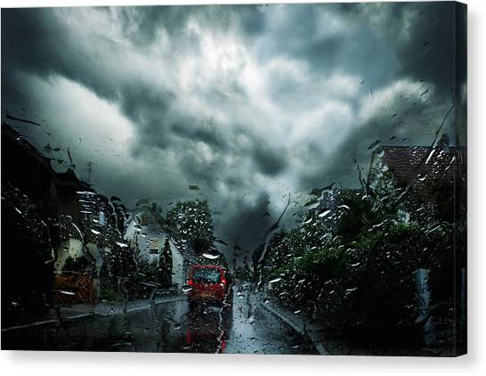 Hailstorms Canvas Print - I Do Not Get Out! by Stefan Eisele