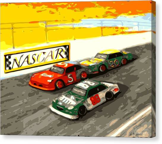 Dale Earnhardt Jr Canvas Print - I Feel A Draft Nascar  by Larry E Lamb