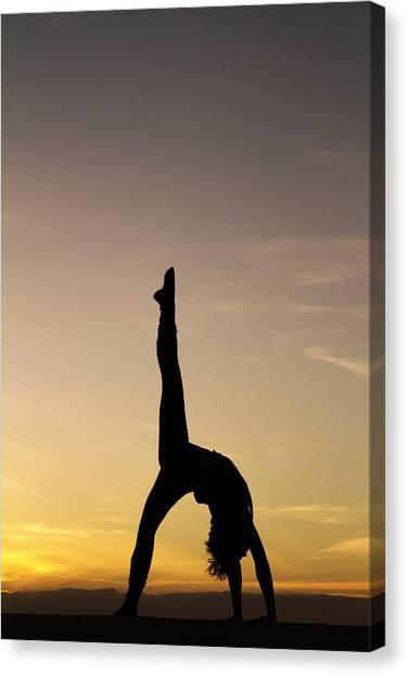 Yoga Canvas Print - I Feel Free by Stelios Kleanthous