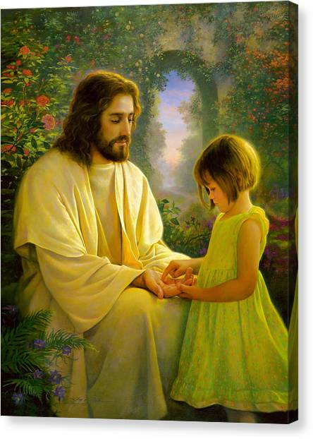 Hand Canvas Print - I Feel My Savior's Love by Greg Olsen
