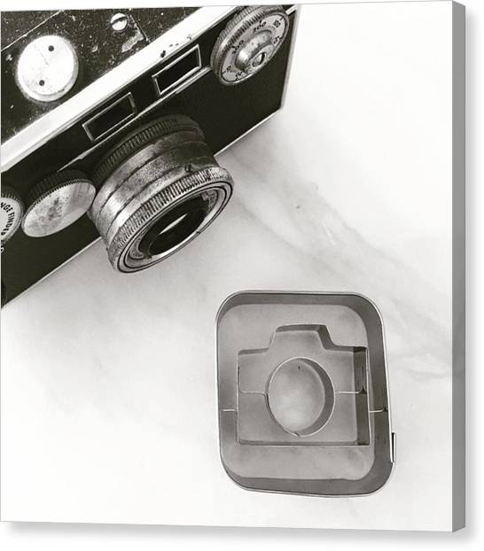 Famous Artists Canvas Print - Camera Cookie Cutter  by Nancy Ingersoll