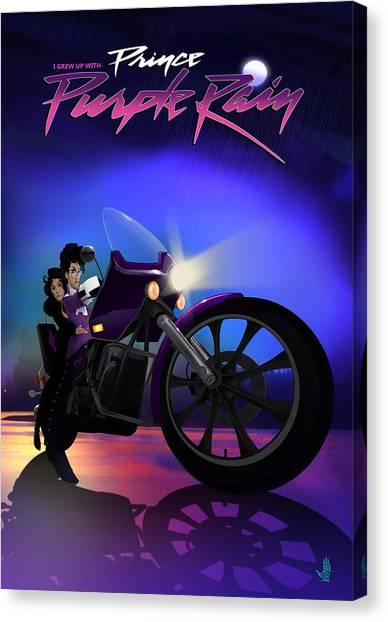 I Grew Up With Purplerain Canvas Print