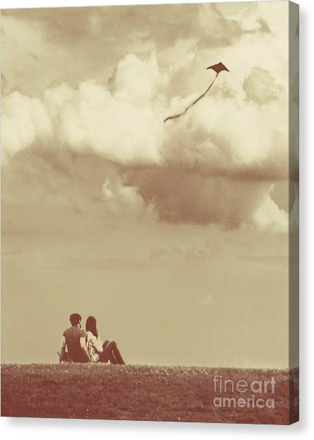 I Had A Dream I Could Fly From The Highest Swing Canvas Print