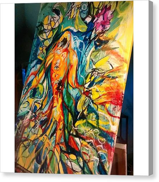 Koi Canvas Print - I Had A Very Productive Day In The by Genevieve Esson