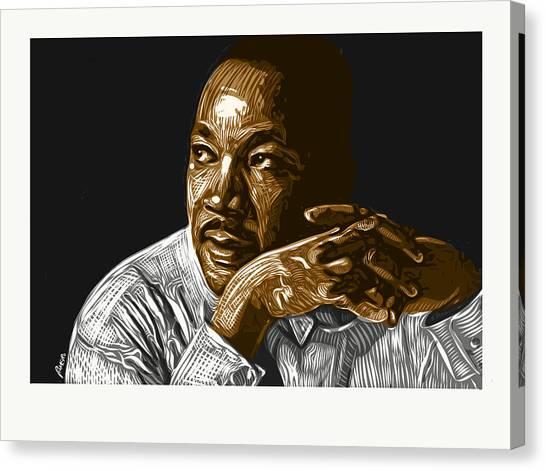 Canvas Print featuring the digital art I Have A Dream . . . by Antonio Romero