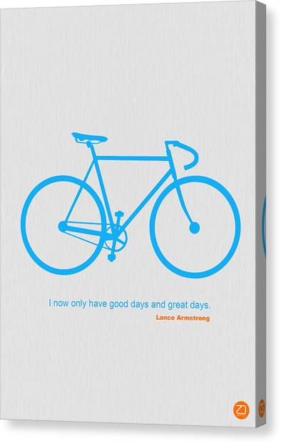 Bicycle Canvas Print - I Have Only Good Days And Great Days by Naxart Studio