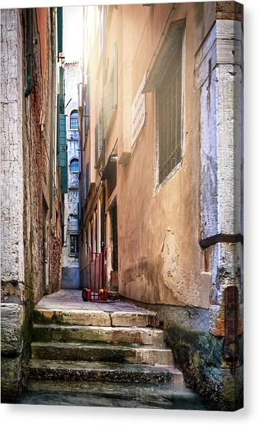 I Have Seen Your Trolley, Somewhere In Venice Canvas Print