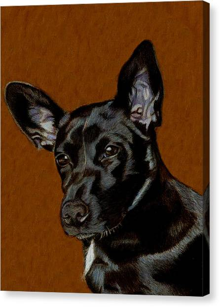 I Hear Ya - Dog Painting Canvas Print