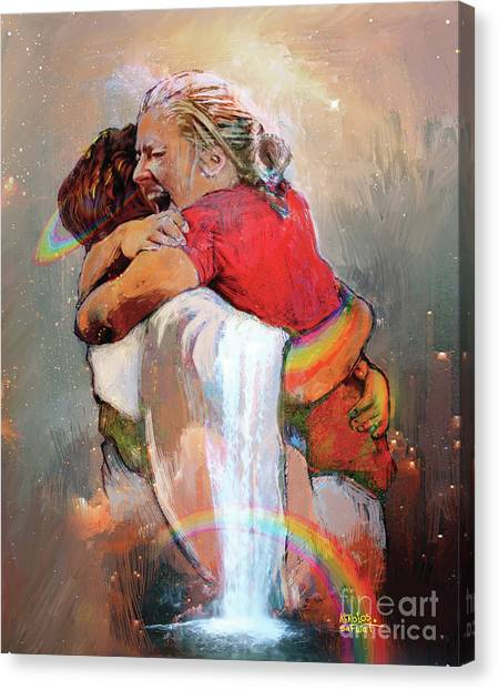 Egyptian Canvas Print - I Held Him And Would Not Let Him Go by Kerolos Safwat