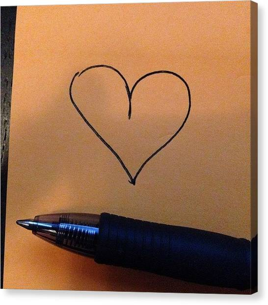Ballpoint Pens Canvas Print - I Just Like You Is All.  #heart by Hearts And Laserbeams