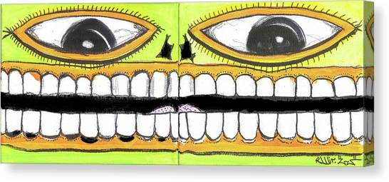 I Like 2 Smile Canvas Print by Robert Wolverton Jr