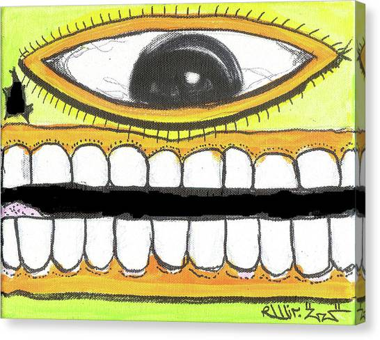 I Like 2 Smile Rs Canvas Print by Robert Wolverton Jr
