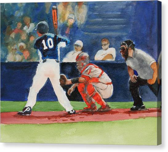 I Love Baseball Canvas Print