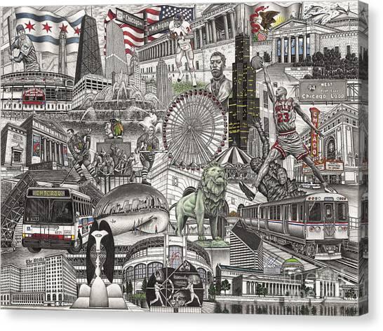 I Love Chicago Volume 2 Canvas Print