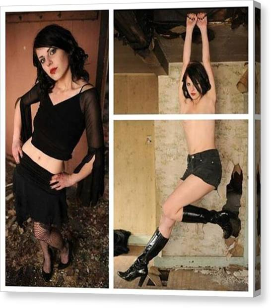 Steampunk Canvas Print - I *love* Doing Photo Shoots In Odd by WitchKing Photo