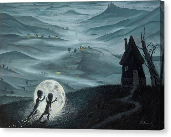 Rolling Hills Canvas Print - I Love Dreaming Into That Dying Light by Adrian Borda