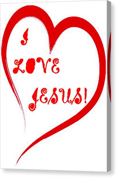 I Love Jesus Canvas Print