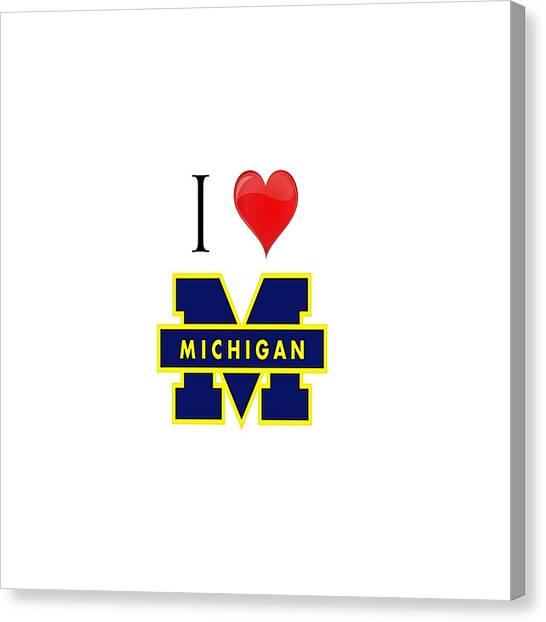 I Love Michigan Canvas Print