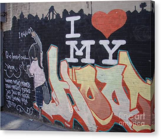 I Love My Hood Canvas Print