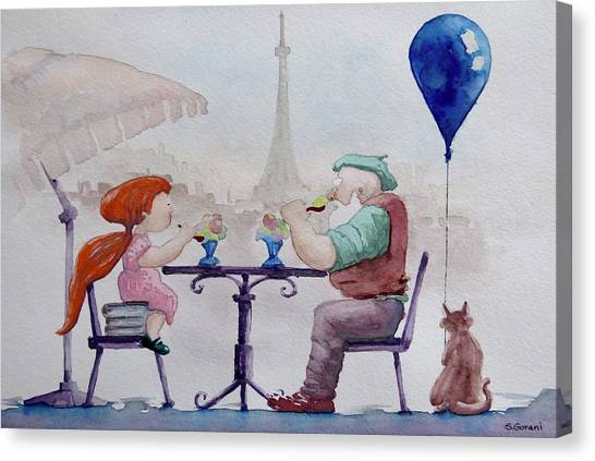I Love Paris Grandpa Canvas Print