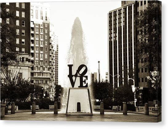 John F. Kennedy Canvas Print - I Love Philadelphia by Bill Cannon